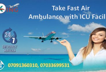 Hire Cheap Rate Air Ambulance in Delhi with Medical Tool by King